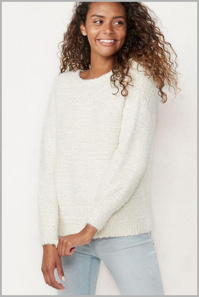 Women`s LC Lauren Conrad Crewneck Popo Sweater, Size: Large, Lt Orange Price Rank ( 13  )