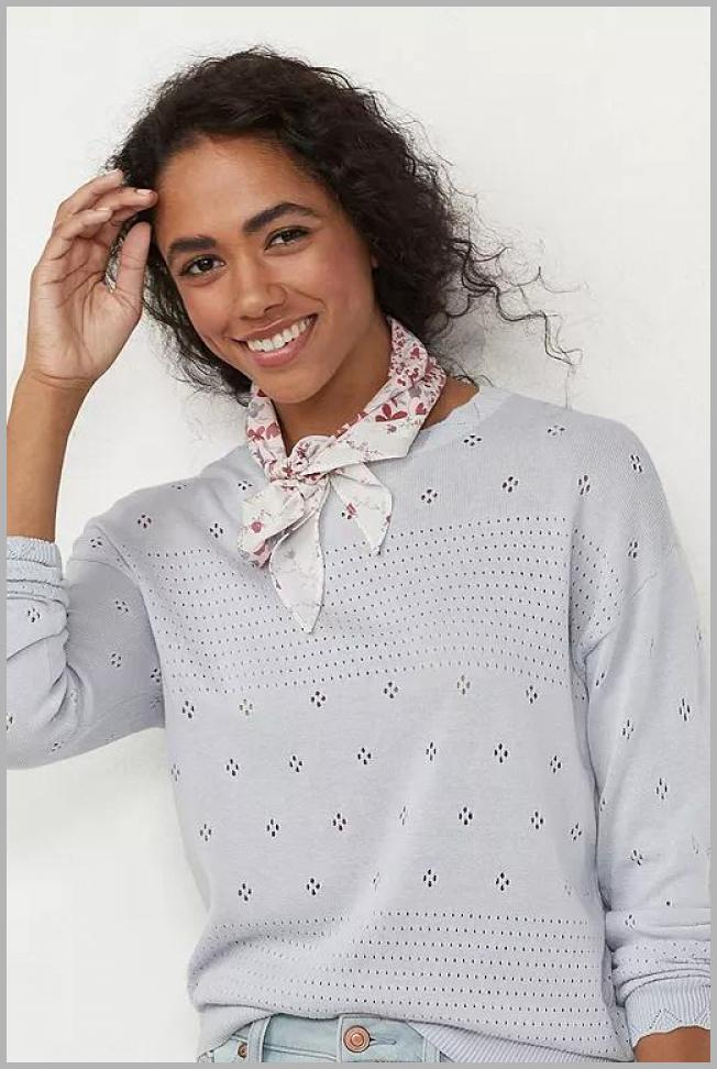 Women`s LC Lauren Conrad Drop-Shoulder Sweater, Size: Large, Light Blue Price Rank ( 20  )
