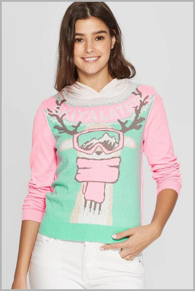 Women`s Ski You Later Graphic Sweatshirt (Juniors`) - Green L, Women`s, Size: Large Price Integrity Rank ( 90 )