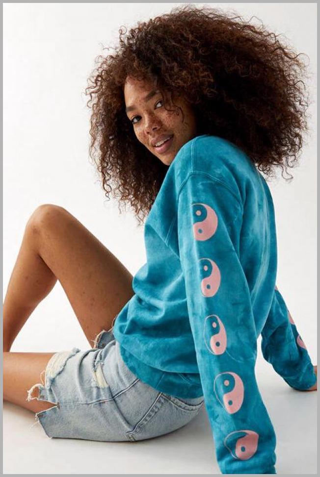 PS / LA Womens Yin  Yang Sweatshirt - Tie Dye size Small Price Integrity Rank ( 0 )