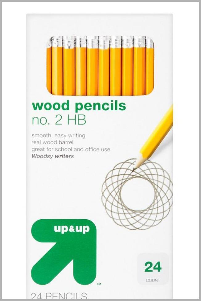 #2 Wood Pencils 24ct - up  up, Yellow Price Rank ( 46  )