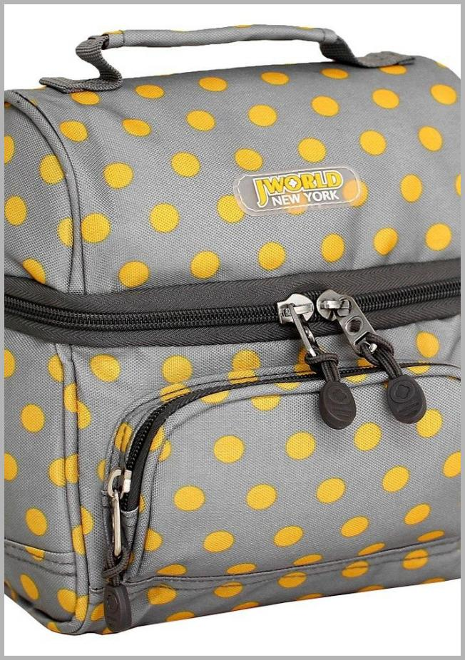 J World Corey Lunch Bag with Front Pocket - Candy Buttons, Candy Button Price Rank ( 80  )
