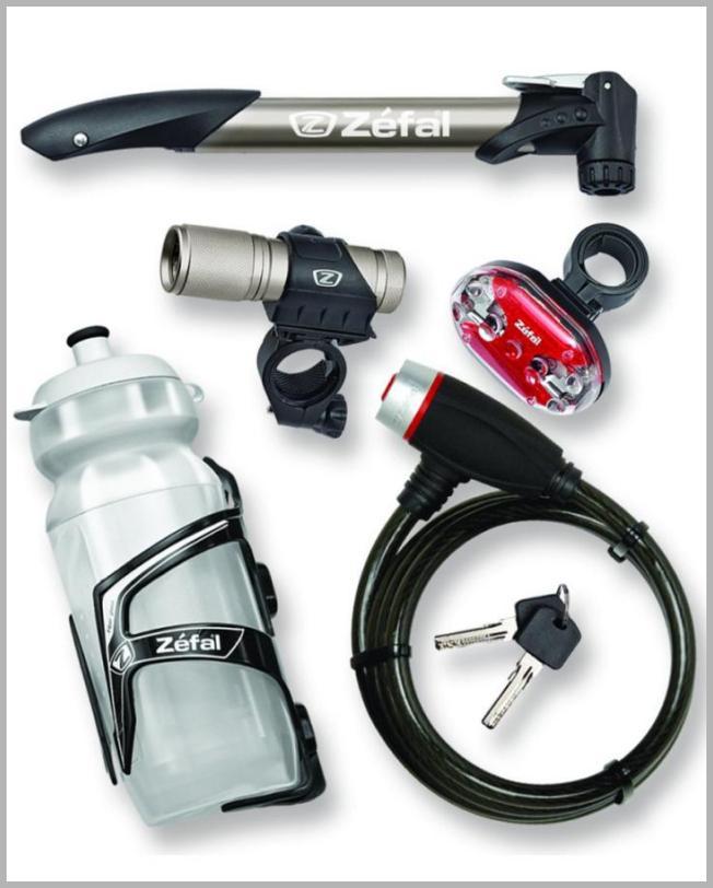 Zefal 6-Piece Bike Accessories Starter Pack (Pump Lock Water Bottle + Cage Front + Rear Light) - Walmart.com Price Integrity Rank ( 0 )